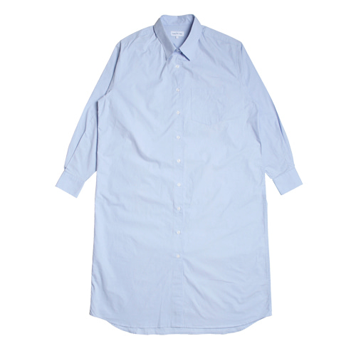 Relaxed Daily Shirts One-Piece (Sky Blue)
