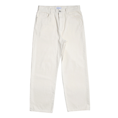 Regular Straight 5P Denim Pants (Cream)