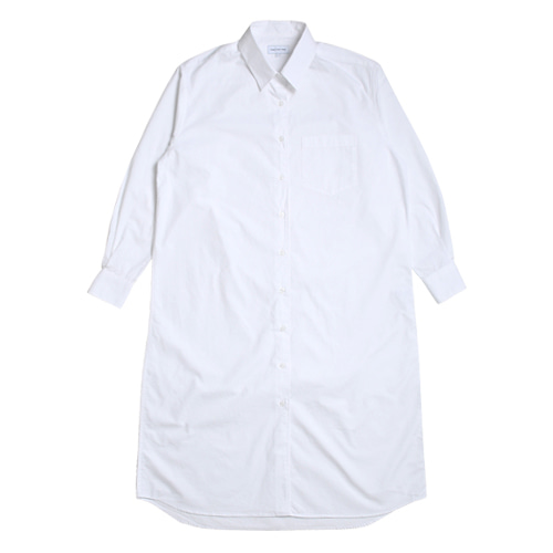 Relaxed Daily Shirts One-Piece (White)