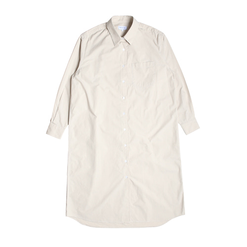Relaxed Daily Shirts One-Piece (Light Beige)