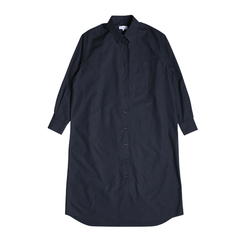 Relaxed Daily Shirts One-Piece (Dark Navy)