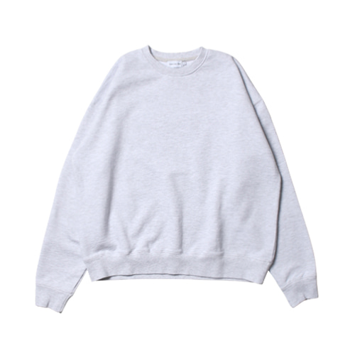 Relaxed Daily Sweat Shirts (White Melange)