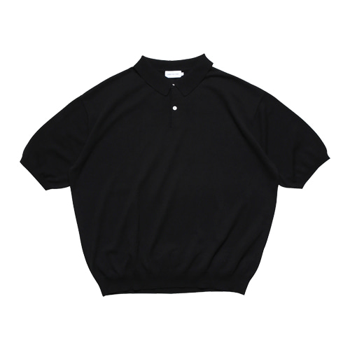 Half Sleeved Collar Knit (Black)