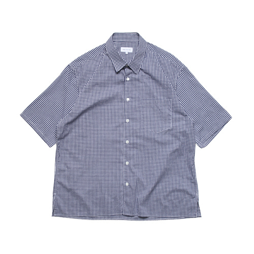 Relaxed Half Sleeved Daily Shirts (Navy Check)