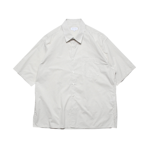 Relaxed Half Sleeved Daily Shirts (Light Grey)