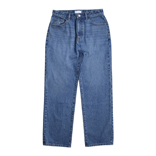 Regular Straight 5P Denim Pants (Medium Blue)