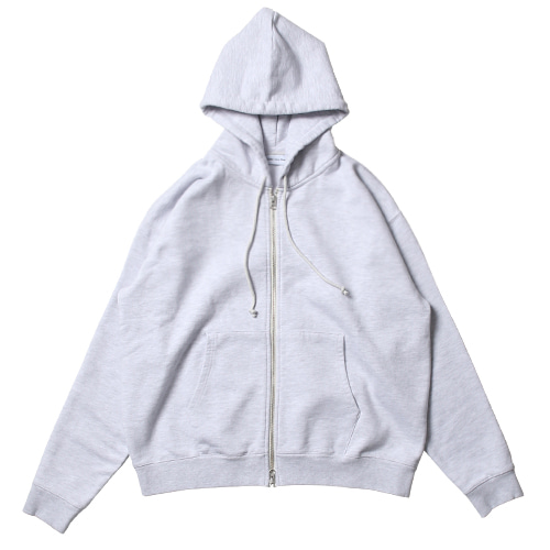 Daily Hood Zip Up (White Melange)