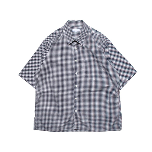 Relaxed Half Sleeved Daily Shirts (Black Check)
