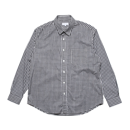 Relaxed Gingham Check Shirts (Black)