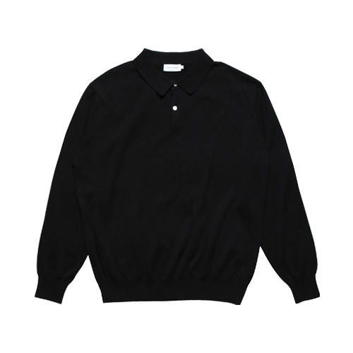 2B Cotton Collar Knit (Black)