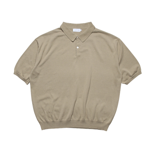 Half Sleeved Collar Knit (Olive Khaki)